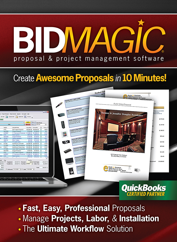 BidMagicDVDfront2M Proposal Software for AV, Security, and IT Integrators